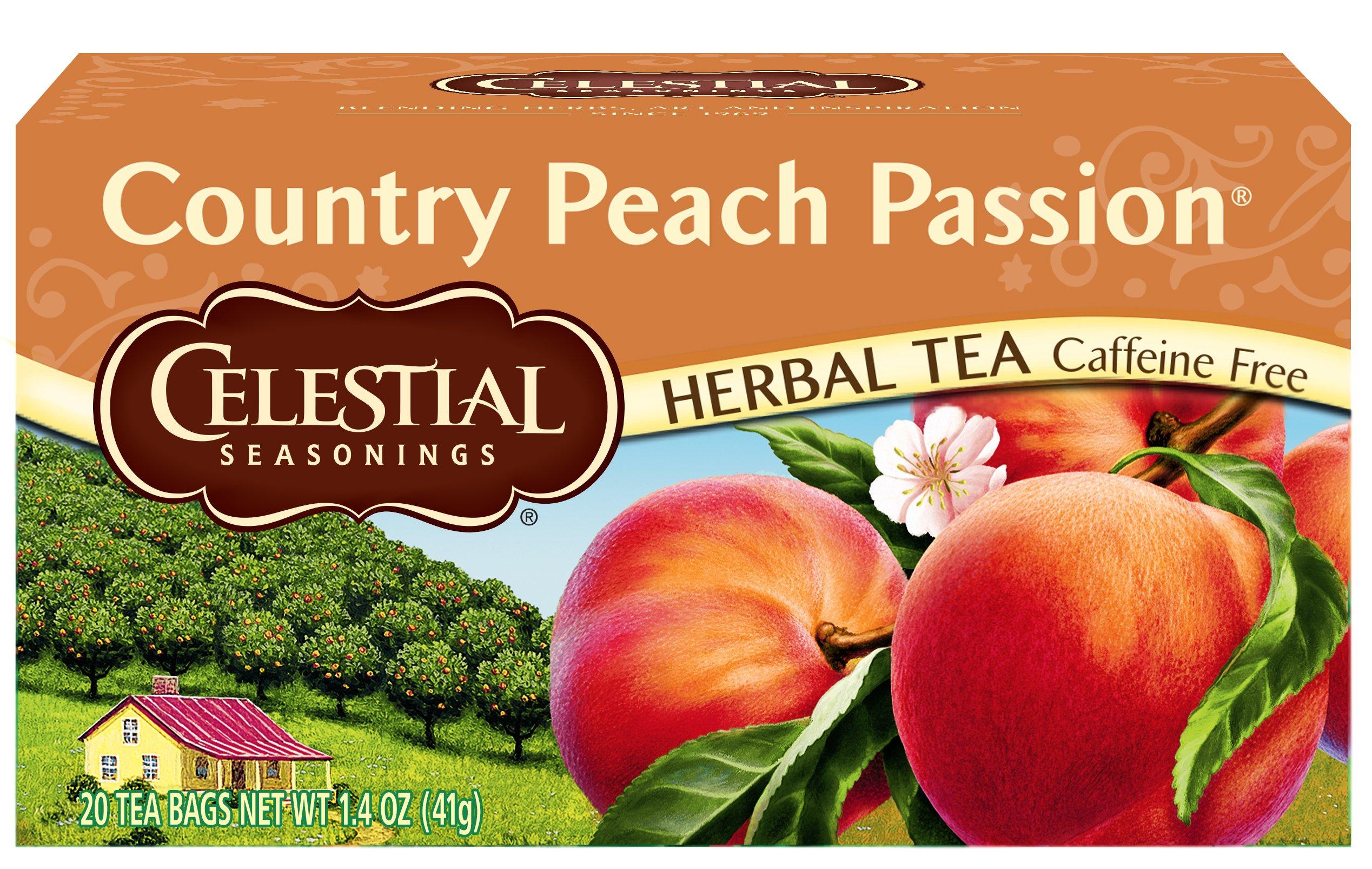 Celestial Seasonings Herbal Tea, Country Peach Passion, 20 Count (Pack of 6)