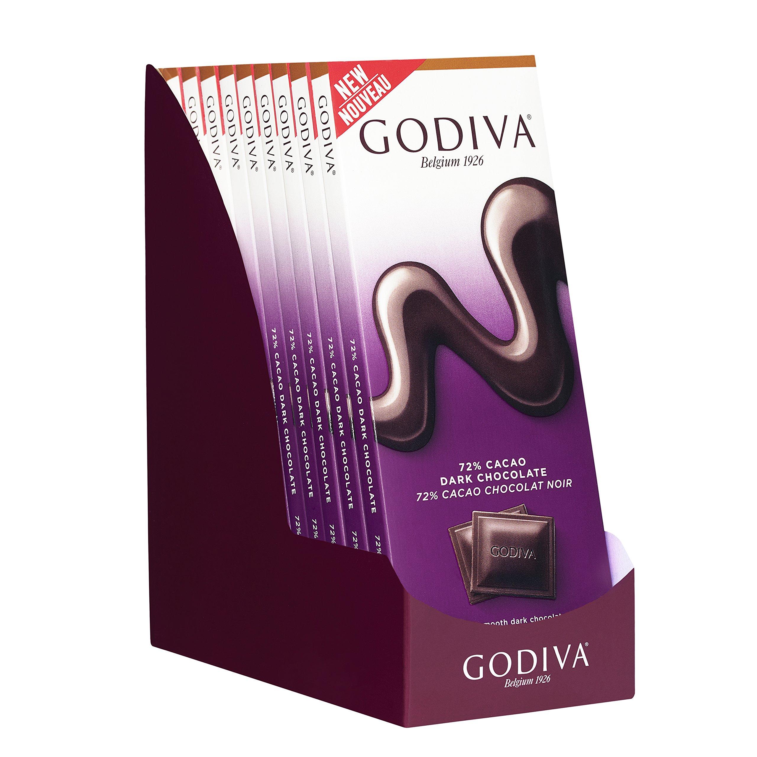 Amazon.com : Godiva Dark Chocolate Bar, 72%, 3.5-Ounces