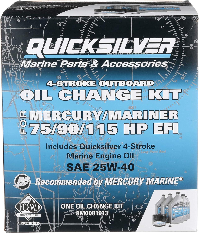 Amazon.com: Quicksilver Kit de cambio de aceite EFI de 4 ...