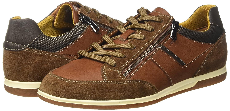 Geox Herren Braun U Renan C Sneaker Braun Herren (Cognac/Brauncotto) 5e9085