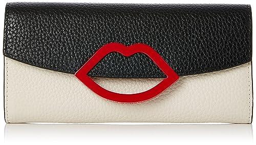 128b0e0f28e2c Lulu Guinness Women s Trisha Wallet Black (Black Porcelain)  Amazon.co.uk   Shoes   Bags
