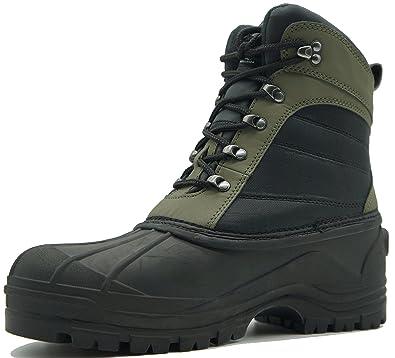Snow Boots For Men Waterproof Black/Green