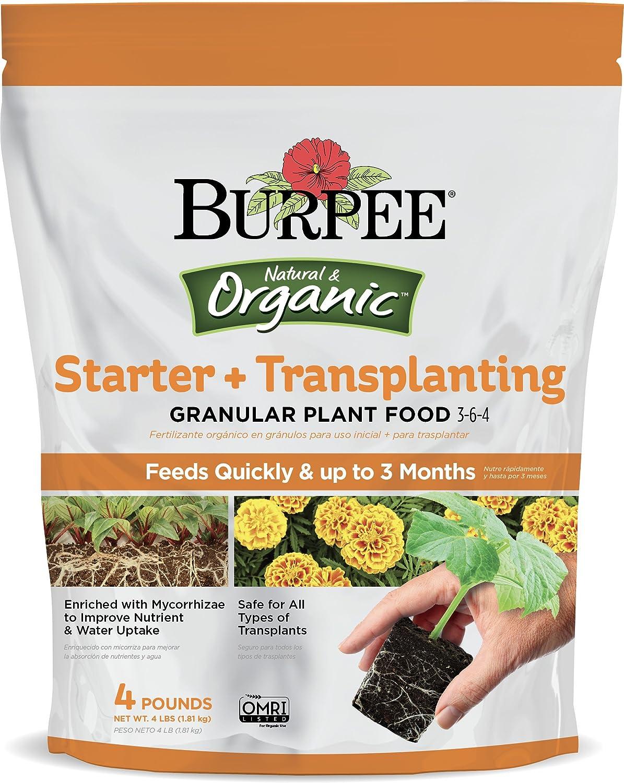 Amazon.com : Burpee Organic Starter and Transplanting Granular Plant Food, 4 lb : Garden & Outdoor