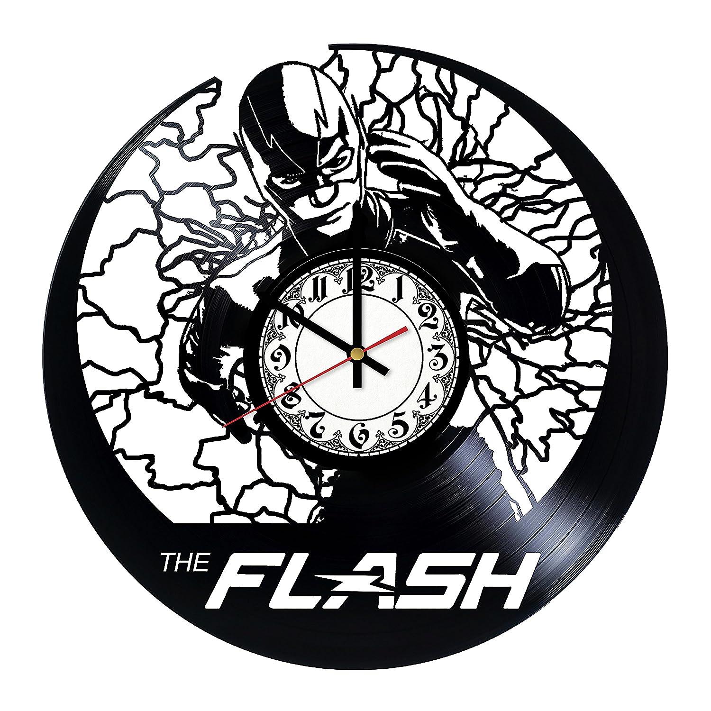 Flash Superhero HANDMADE Vinyl Record Wall Clock - Home Decor - Wall Decor - Wall Art - Gift Ideas