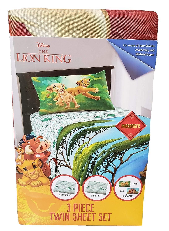 Franco Manufacturing The Lion King 3 Piece Twin Size Microfiber Sheet Set