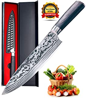 Amazon.com: Chef Knife - ELAZRA Pro 8 Inch Kitchen Knife ...