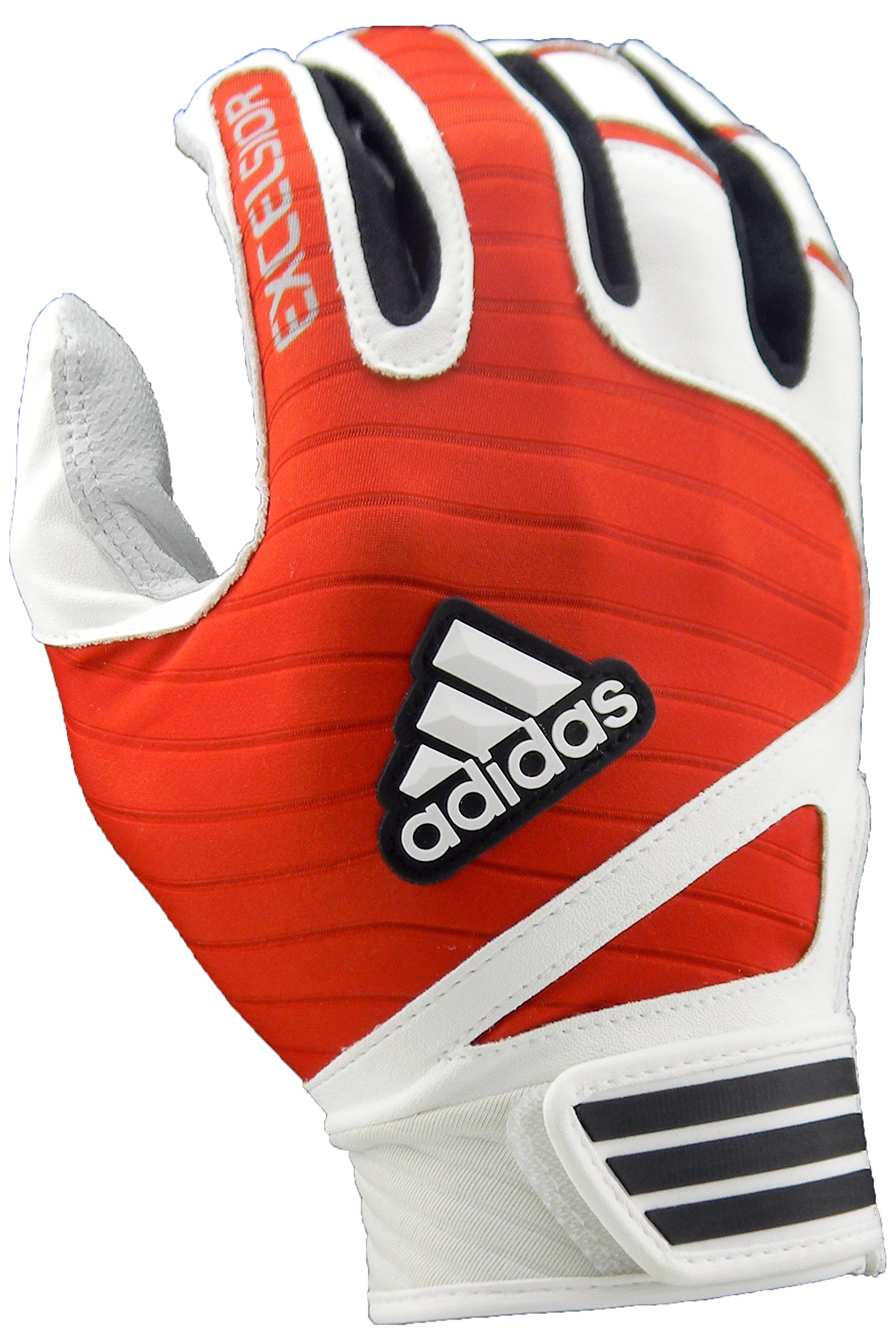adidas Excelsior Batting Gloves (Pair), White/Red, Large