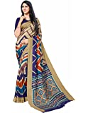 Miraan Art Silk Saree With Blouse Piece (Multicolor_Free Size)