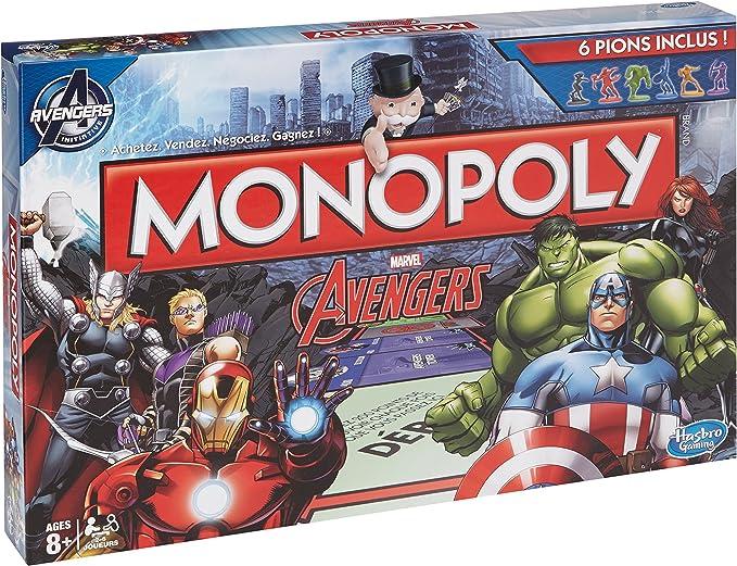 Hasbro Monopoly - Juego de Mesa con diseño Avengers (versión en francés): Amazon.es: Juguetes y juegos