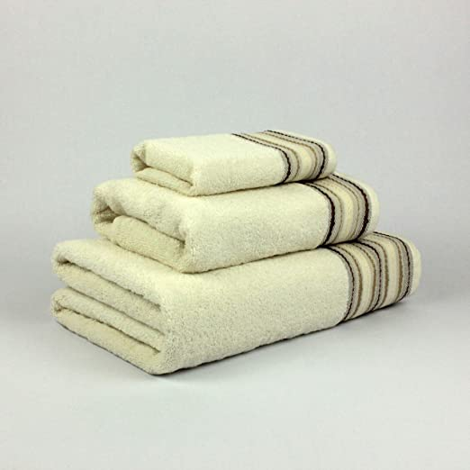 Natural Ana Juego de toallas baño, Algodón, Beige, 30x50, 50x90 ...