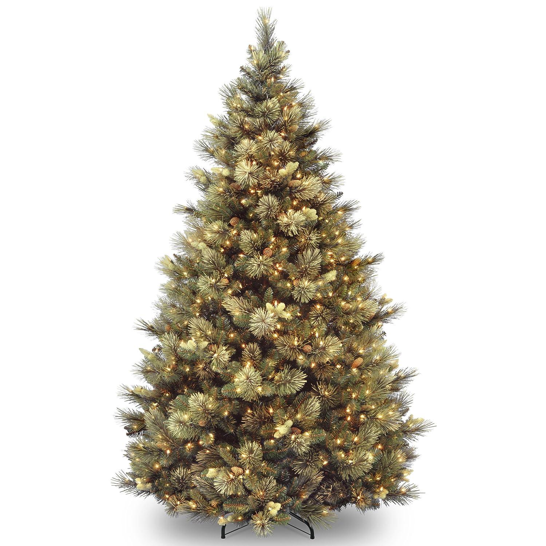 Amazon.com: National Tree 7 1/2' Carolina Pine Tree, Hinged, 86 ...