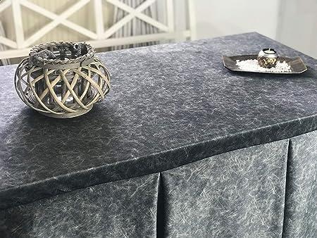 INUSUAL Falda o Ropa de Camilla Rectangular Invierno 120X70X72 Modelo IBI, Textura Suave Satinado Efecto mármol (Acero): Amazon.es: Hogar