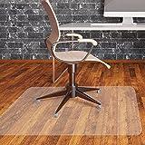 チェアマット透明 床を保護用 椅子の下に敷く 机の擦り傷防止や滑り止めフロアマット 防水やカット可能 フローリング/畳/床暖房対応 (120×90cm 厚み1.5mm)