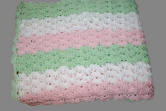Amazoncom Mint Baby Blanket Crochet Baby Afghan Carriage Blanket