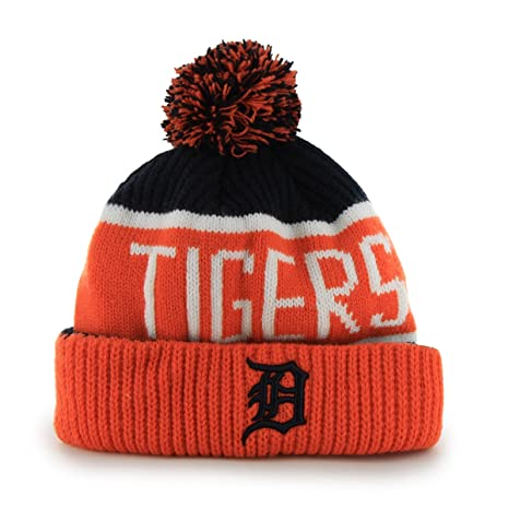 0e81845cbe051 Amazon.com   MLB Detroit Tigers  47 Brand Calgary Cuff Knit Hat with ...