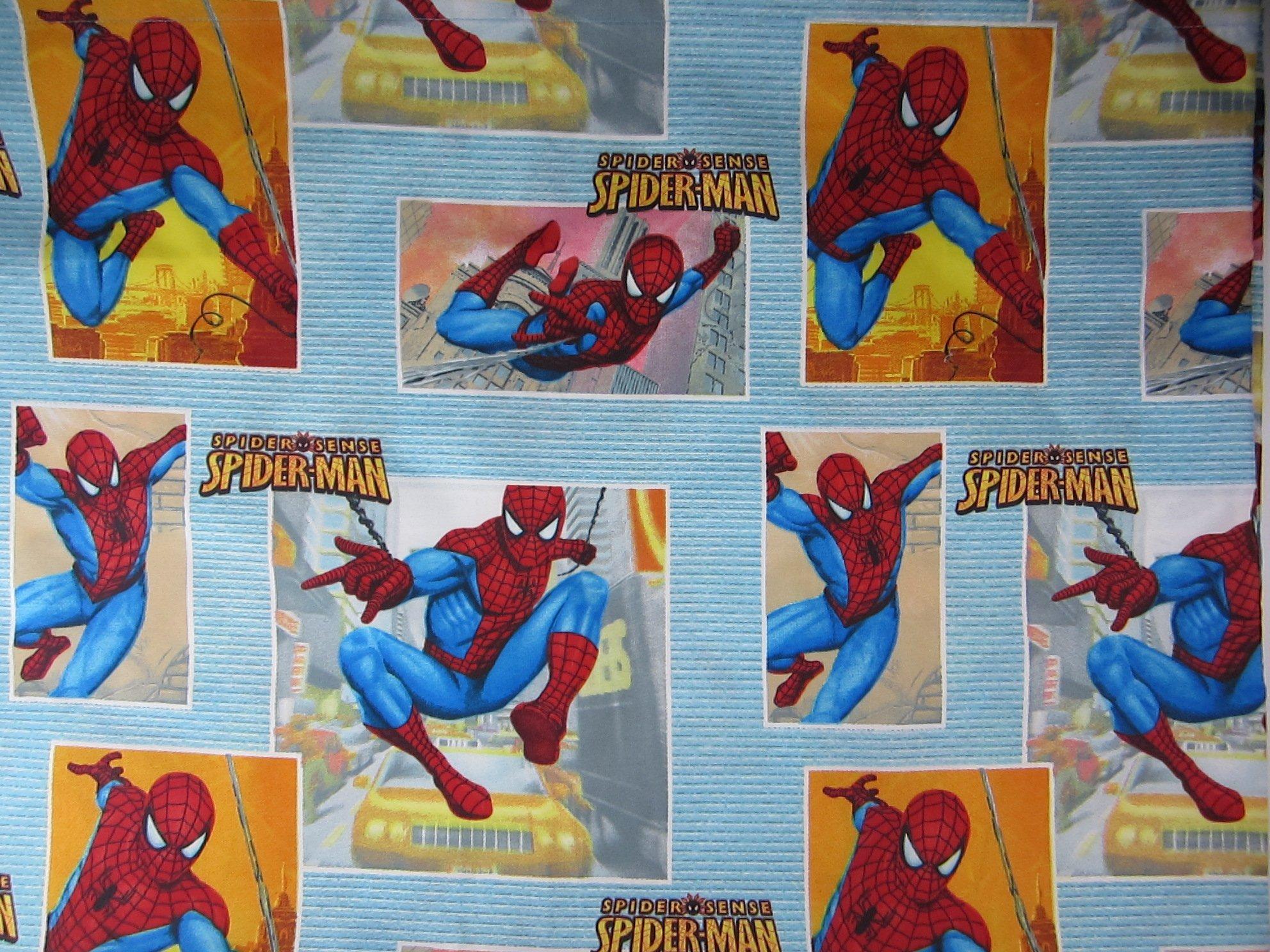 Spiderman Spider Sense (FLAT SHEET ONLY) Size TWIN Boys Girls Kids Bedding
