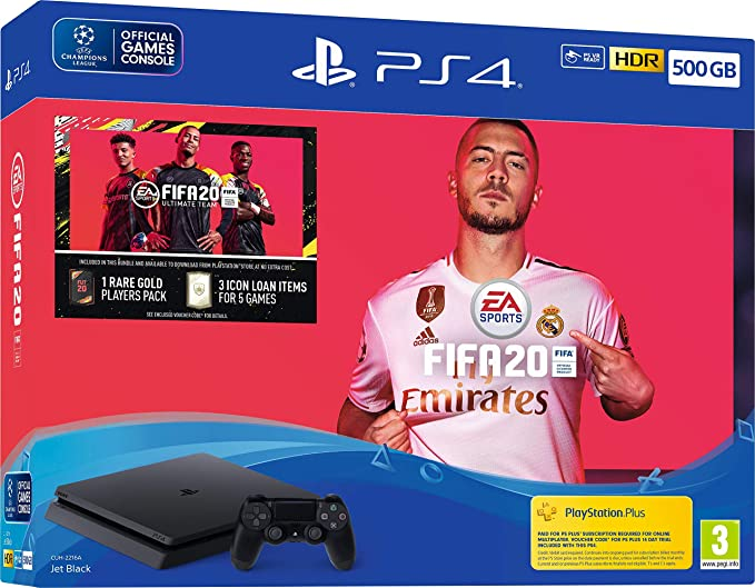 Fifa 20 500GB PS4 Bundle - PlayStation 4 [Importación inglesa ...