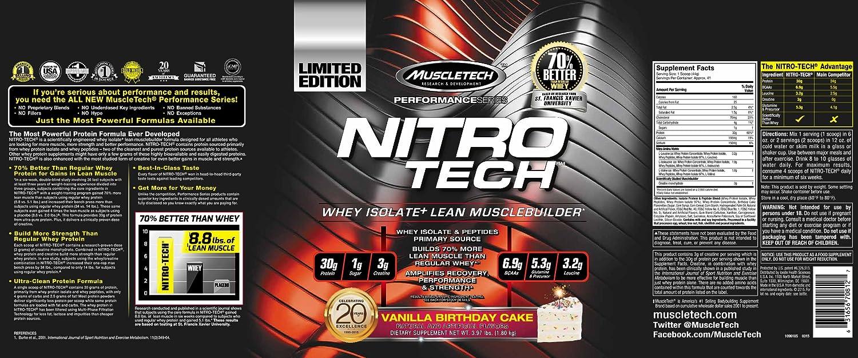 Muscletech Performance Series Nitro-Tech Vanilla Birthday Cake - 1800 gr
