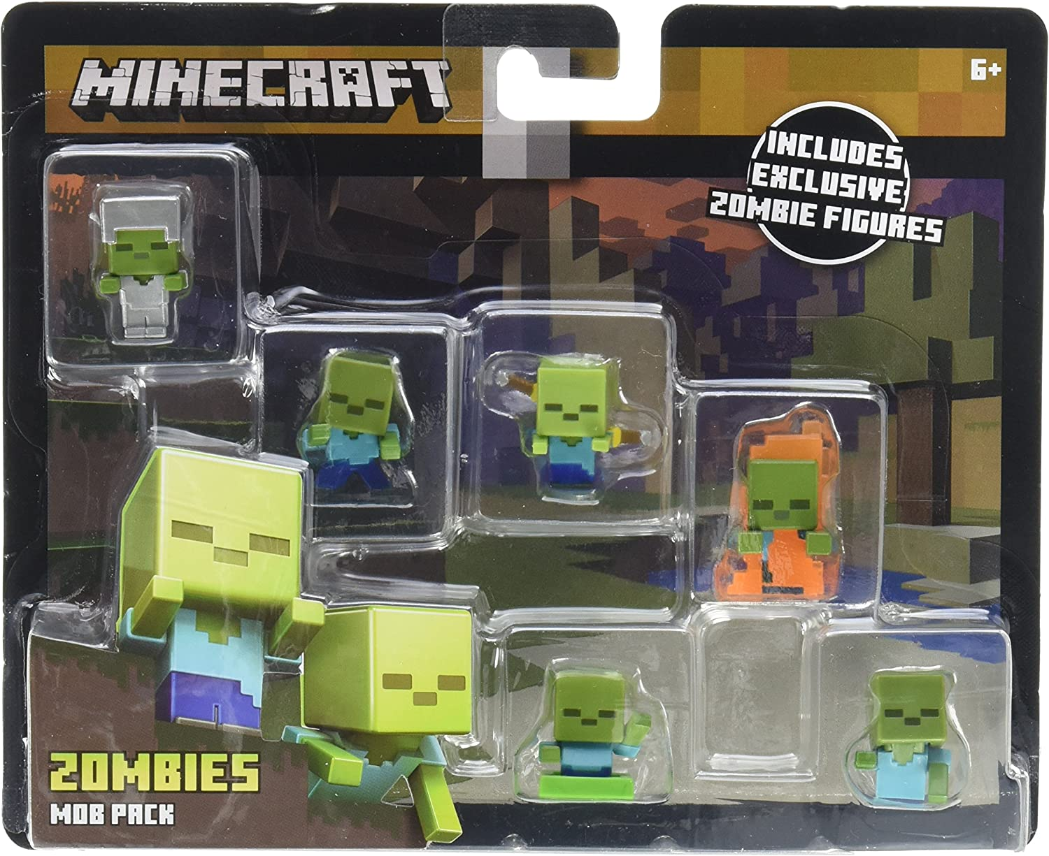 Mattel Minecraft Mini-Figure Mob Pack (Styles May Vary) Action Figure: Amazon.es: Juguetes y juegos