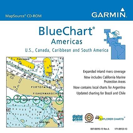Amazoncom Garmin BlueChart Americas Saltwater Map CDROM - Argentina map garmin