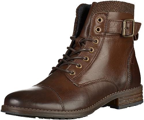 Mustang - Botines de caño bajo Mujer, Color marrón, Talla 43 EU: Amazon.es: Zapatos y complementos