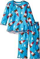 Sara's Prints Baby Girls' Ruffle Top and Pant Pajama Set