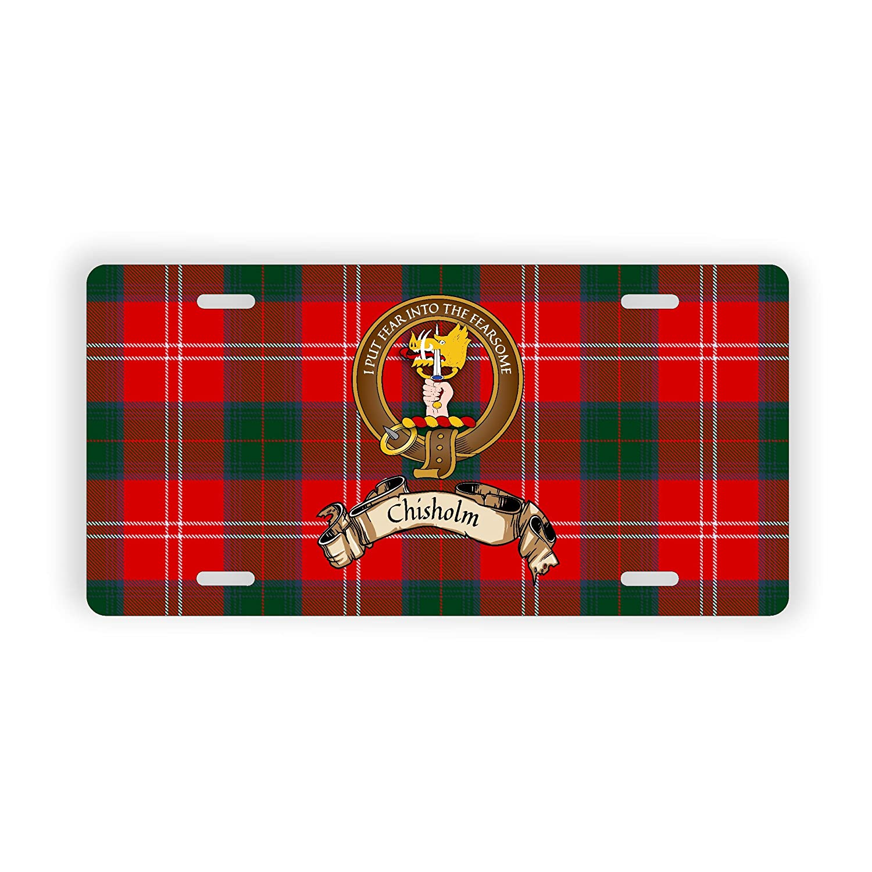 Chisholm Scotland Clan Tartan Novelty Auto Plate