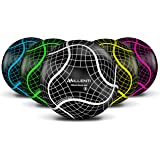 Millenti Soccer Balls Size 5 - ProGrid Official Match Soccer Ball with High-Visibility, Easy-to-Track Designs - Thermal Bonde
