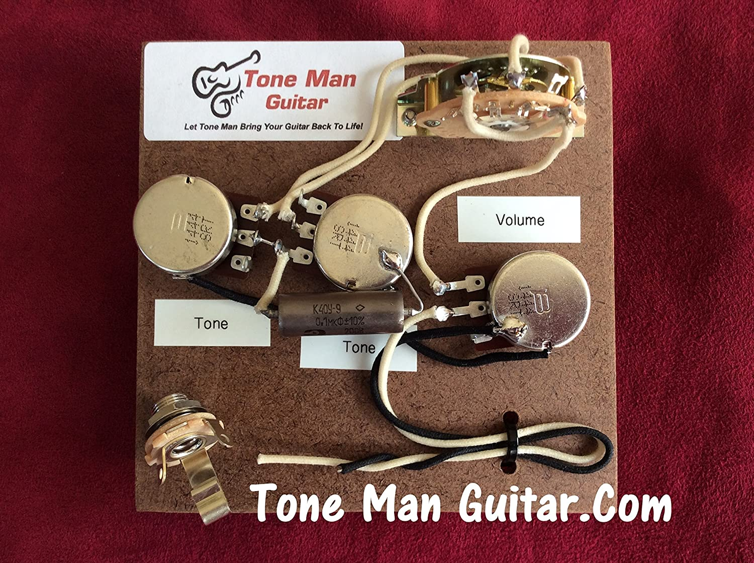 Stratocaster Fender Prewired Wiring Harness Kit Eric Guitar Pickup Kits Johnson Set Up 1uf Vintage Pio Tone Cap Musical Instruments