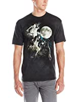 The Mountain Kids 100% Cotton Three Wolf Moon T-Shirt