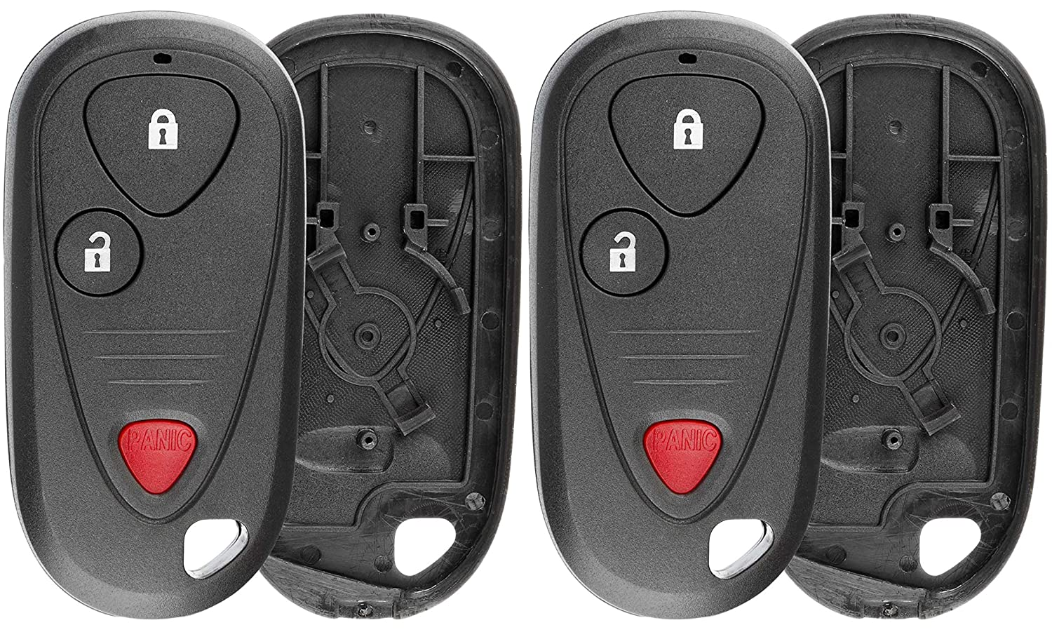 OUCG8D-355H-A KeylessOption Just the Case Keyless Entry Remote Control Car Key Fob Shell Replacement for OUCG8D-387H-A Pack of 2