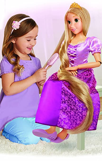 amazon com disney princess 32 playdate rapunzel doll toys games