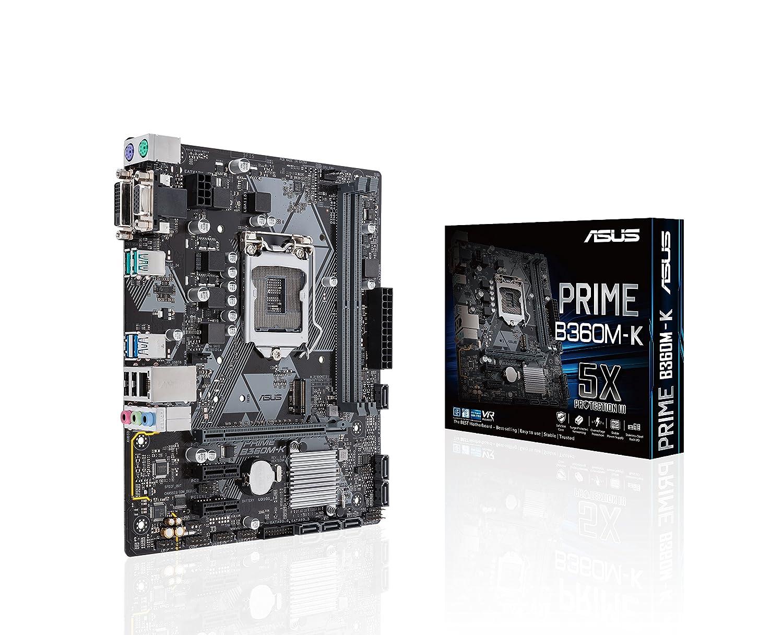 MB ASUS PRIME B360M-K LGA1151 (COFFEE LAKE) 2DDR4 VGA+DVI PCIe M2 mATX
