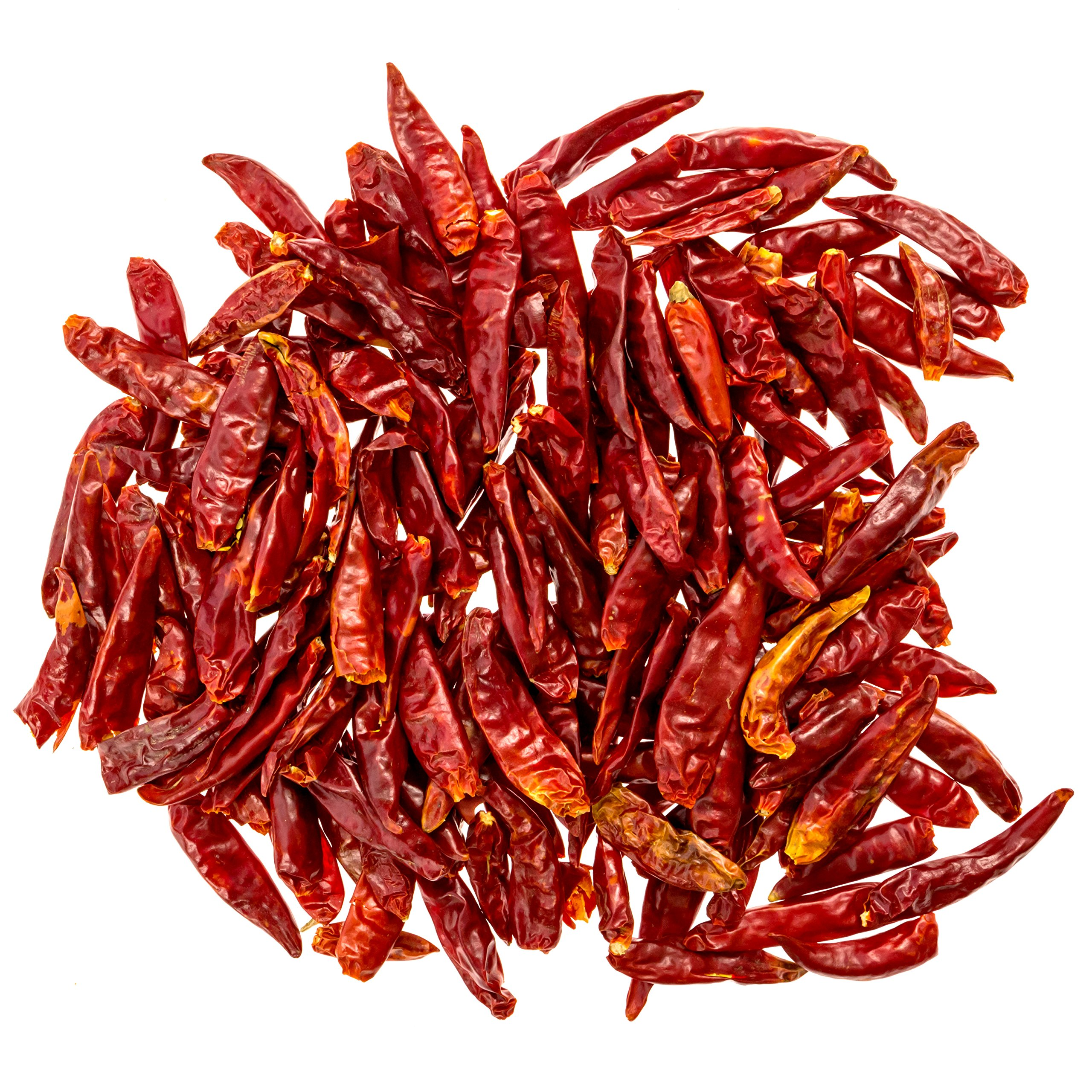 THREE SQUIRRELS Szechuan Whole Dried Chilies, Chinese Dried Red Chili Peppers, Making Hot Chili Oil and Sichuan Chongqing Hotpot, Premium Quality, 4 oz.