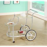 Coaster Home Furnishings 910076 Serving Cart, Chrome