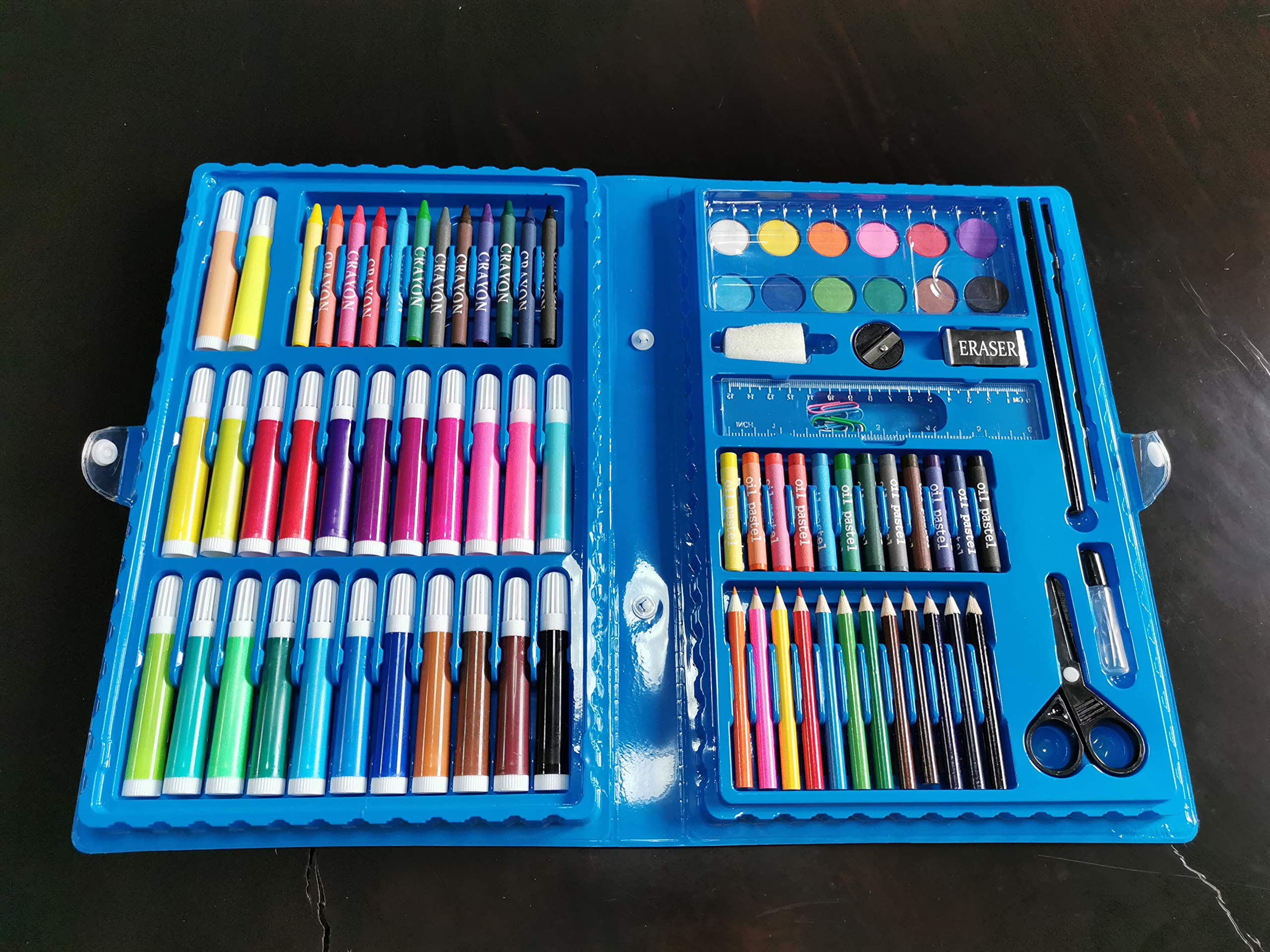 KICO Colored Pencils 150 Unique Colors (No Duplicates) Art Drawing Colored Pencils Set with Case