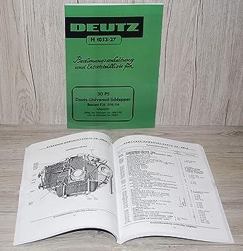 Werkstatthandbuch Deutz Motor 514 F2L514 für Traktor F2L514//6