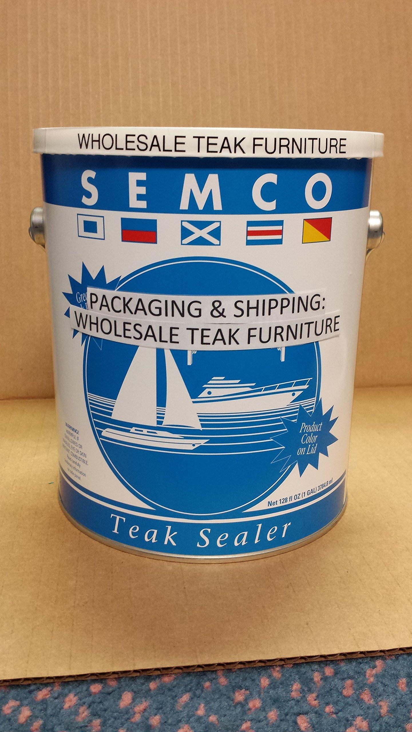 TeakStation Semco Teak Sealer 1 Gallon Honey Tone Finish Sealant Protector