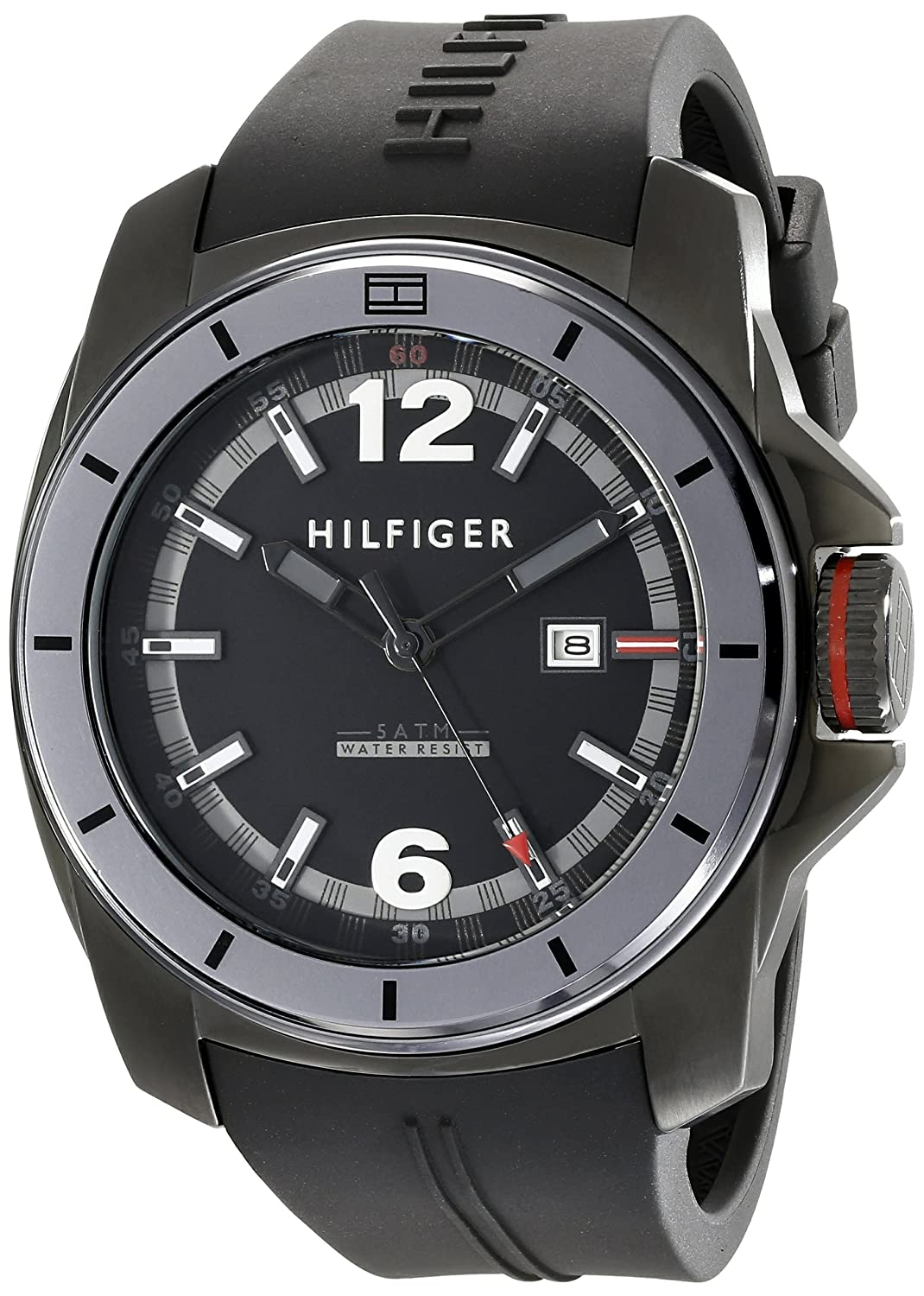 Amazoncom Tommy Hilfiger Mens 1791114 Cool Sport Black Watch