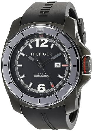 amazon com tommy hilfiger men s 1791114 cool sport black watch tommy hilfiger men s 1791114 cool sport black watch
