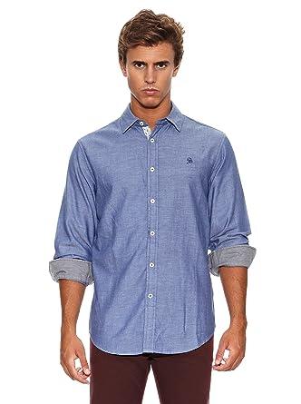Springfield Camisa WD Heather Twill Azul M: Amazon.es: Ropa y ...