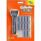 Gillette Fusion - Maquinilla de afeitar Gillette para hombre + 11 recambios