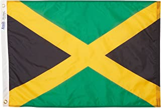 product image for Annin Flagmakers Model 194236 Jamaica Flag Nylon SolarGuard NYL-Glo, 2x3 ft, 100% Made in USA to Official United Nations Design Specifications