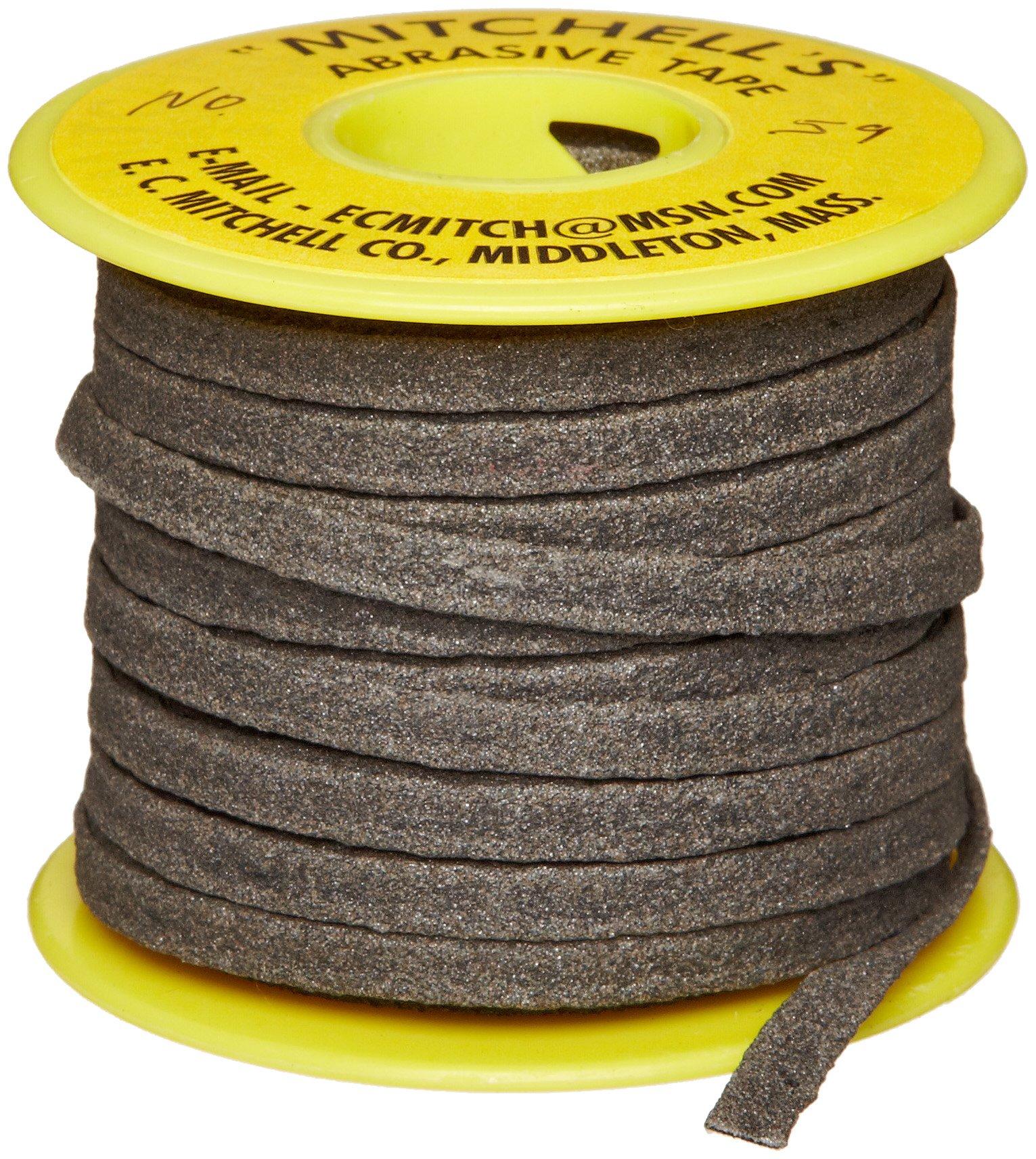 Mitchell Abrasives 59 Flat Abrasive Tape, Aluminum Oxide 150 Grit 1/4'' Wide x 25 Feet