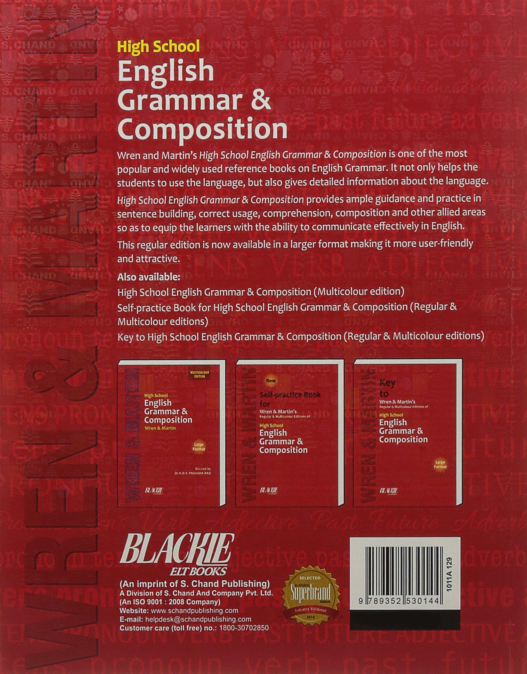 High School English Grammar and Composition Book (Regular Edition) (9352530144) Amazon Price History, Amazon Price Tracker