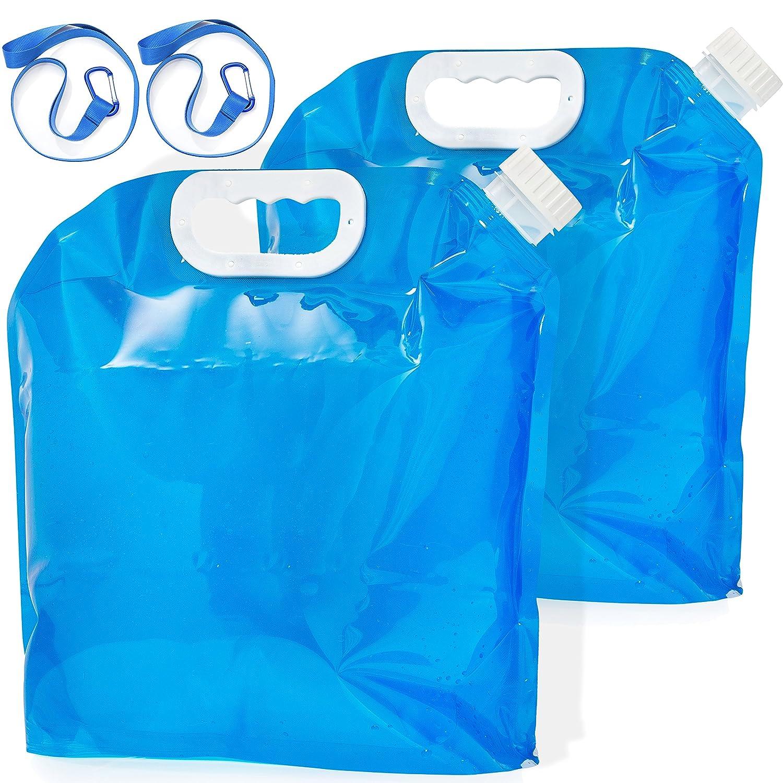 Lukey archiviazione 2-pack pieghevole contenitore di acqua 5/litri