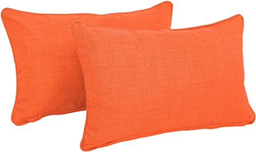 Blazing Needles Double-Corded Solid Outdoor Spun Polyester Back Support Pillow
