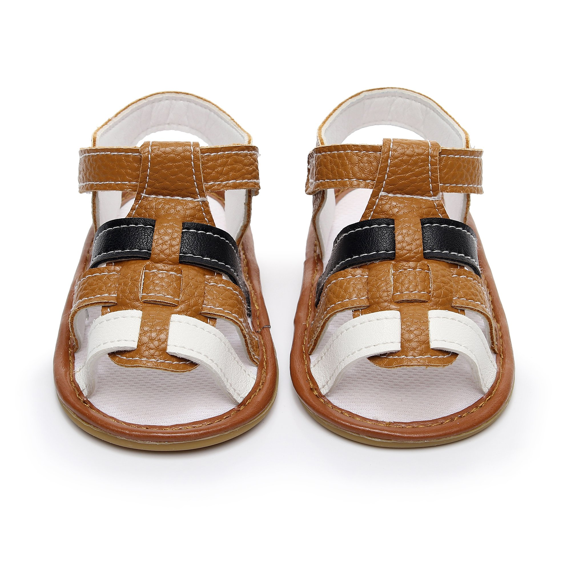 974220134cac HONGTEYA Infant Toddler Summer Girls Boys Sandals PU Leather Baby Sandals  Moccasins Rubber Sole First Walkers Shoes (US7 14cm 5.51