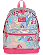 811d1ffb4446 Disney Princess Girls Holographic Backpack Little Mermaid Ariel School Bag  for Girl