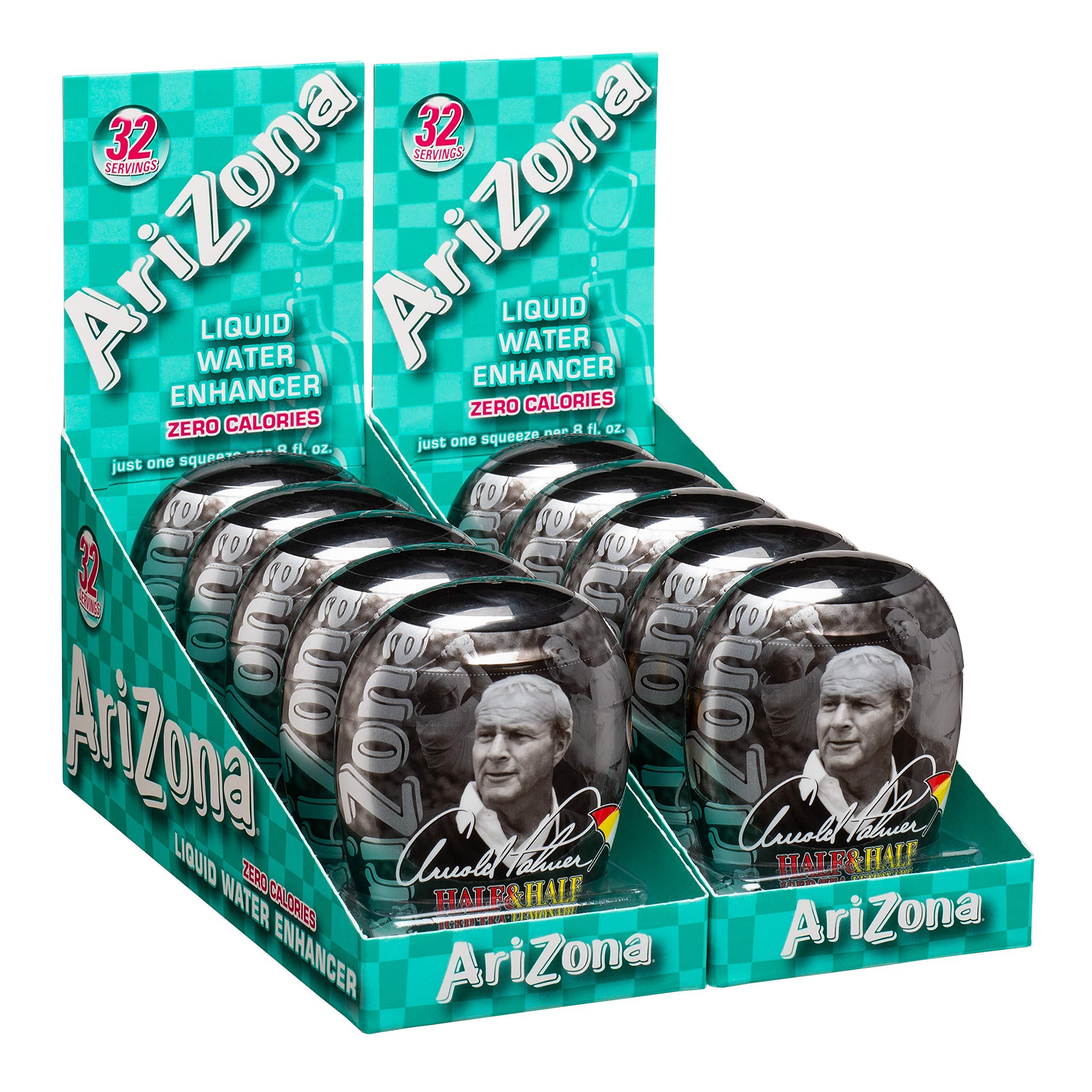 AriZona Arnold Palmer Tea Half Lemonade Half Iced Tea Liquid Water Enhancer LWE (Pack of 10), Low Calorie Single Serving, Liquid Drink Mix, Just Add Water for Refreshing Iced Tea Drink
